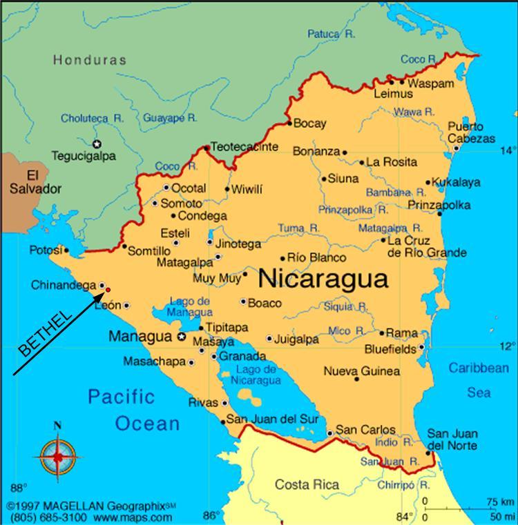 Map of Nicaragua VISION NICARAGUA